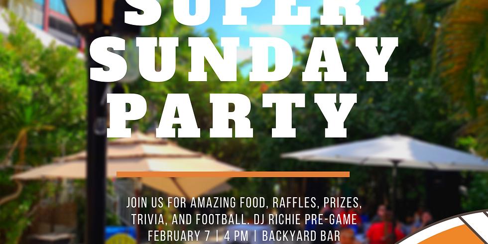Super Sunday Party at Backyard Bar