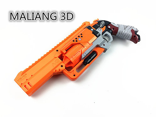 Nerf Hammershot - MaLiang 3D HS02 Body Kit (3D Printed Orange)