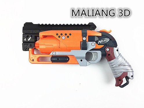 Nerf Hammershot - MaLiang 3D HS04 Body Kit (3D Printed Black)