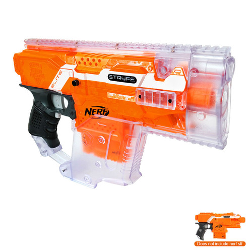Clear Nerf Vulcan Ebf-25 Gun Dart Blaster Machine Tripod Ammo Box Rail Sight