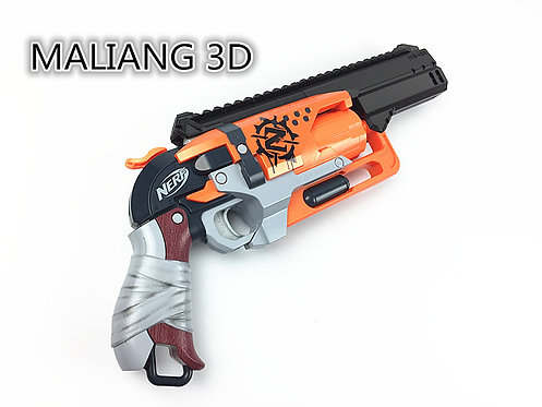 Nerf Hammershot - MaLiang 3D HS02 Body Kit (3D Printed Black)