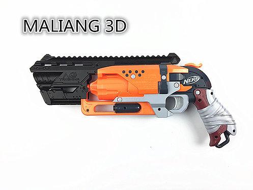 Nerf Hammershot - MaLiang 3D HS03 Body Kit (3D Printed Black)