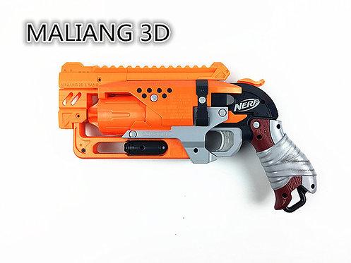 Nerf Hammershot - MaLiang 3D HS04 Body Kit (3D Printed Orange)