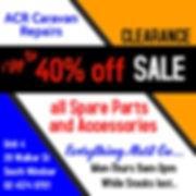 ACR Caravan Repairs Shop Clearance Sale.