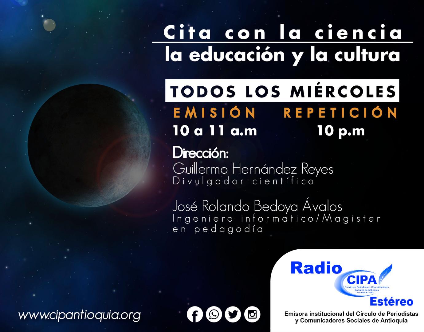 Cita con la ciencia la educación y la cultura