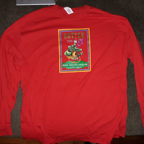 Long sleeve Gator Jake's tshirt - medium