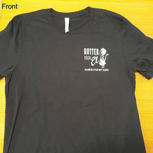Black unisex Ghost sauce tshirts