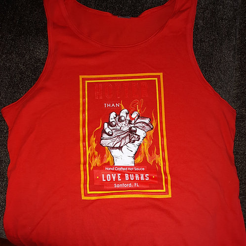 Red tank top - Love Burns - small
