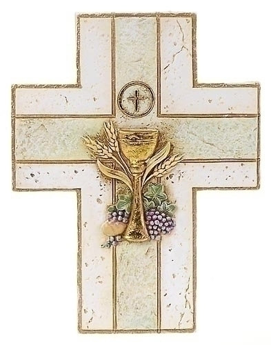 Roman First Communion Wall Cross with Chalice