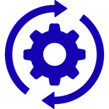 icon with gear