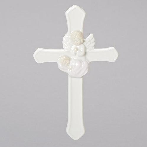 Roman Guardian Angel Wall Cross for Girl