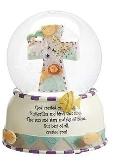 God Creates Globe for Baby