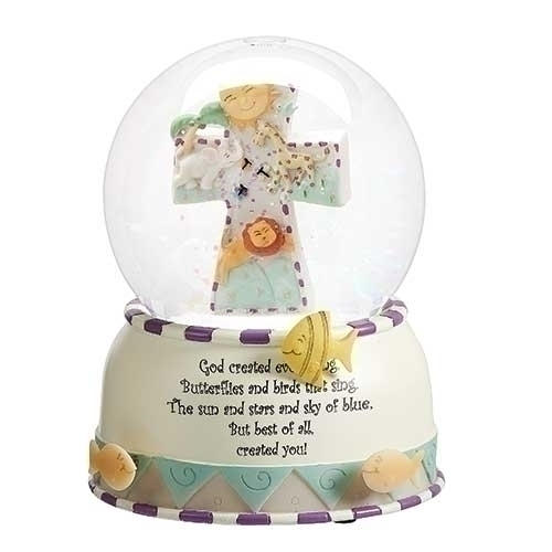 God Creates Globe for Baby