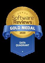 SoftwareReviews 2020 Gold Medal Award Lo