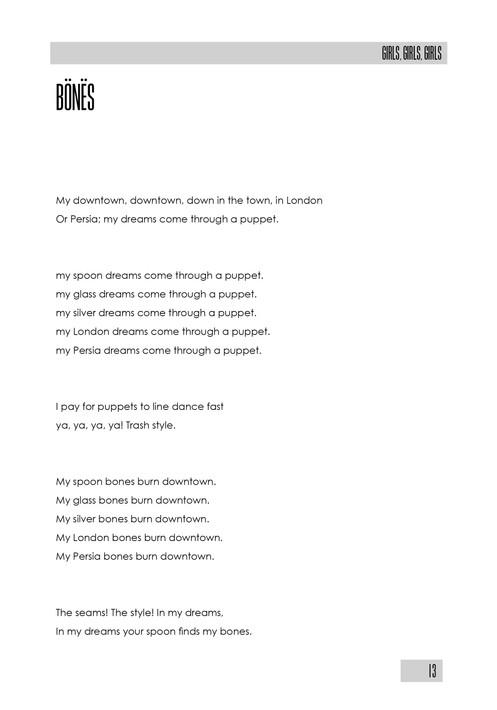 Girls, Girls, Girls, by Anna McKerrow (60 pages)