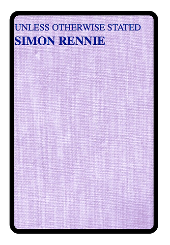 'Unless Otherwise Stated' by Simon Rennie (65 pages)