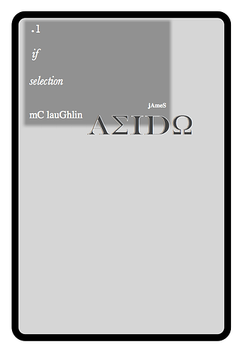 'Aeido' by James McLaughlin (49 pages)