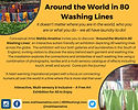 Reverse side of the 'Around the World in 80 Washing Lines' official flyer