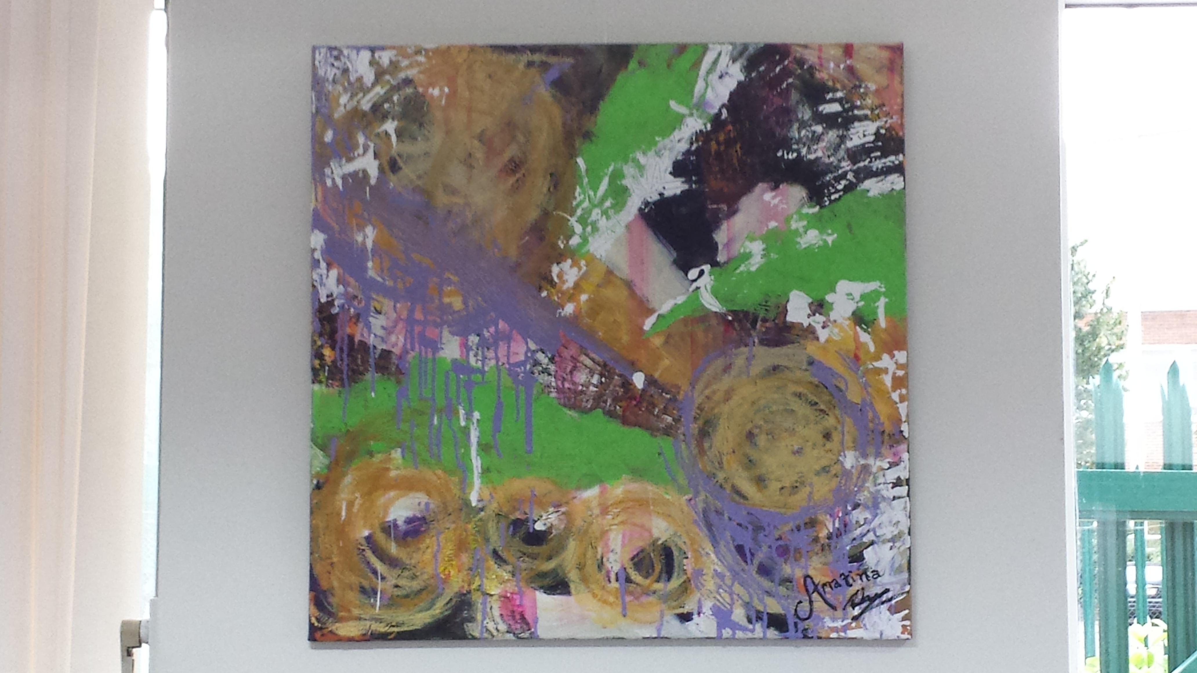 Painting 'Bursting Cyclone'