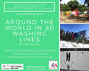 Front side of the 'Around the World in 80 Washing Lines' official flyer