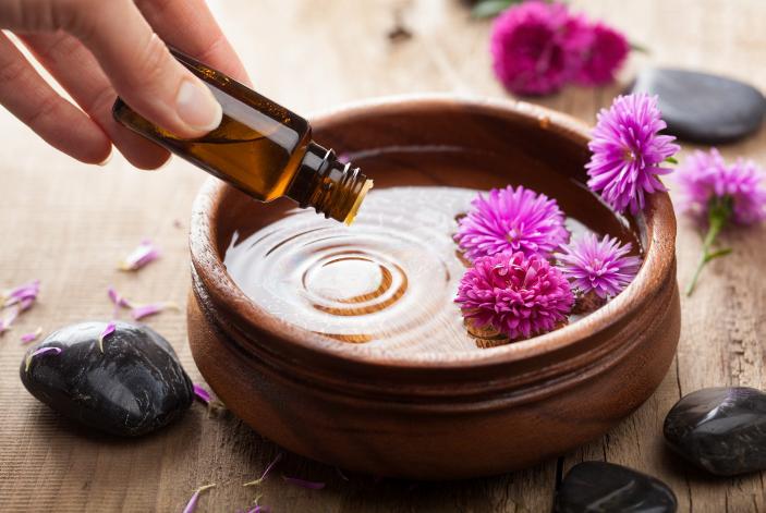 essential oil in bowl