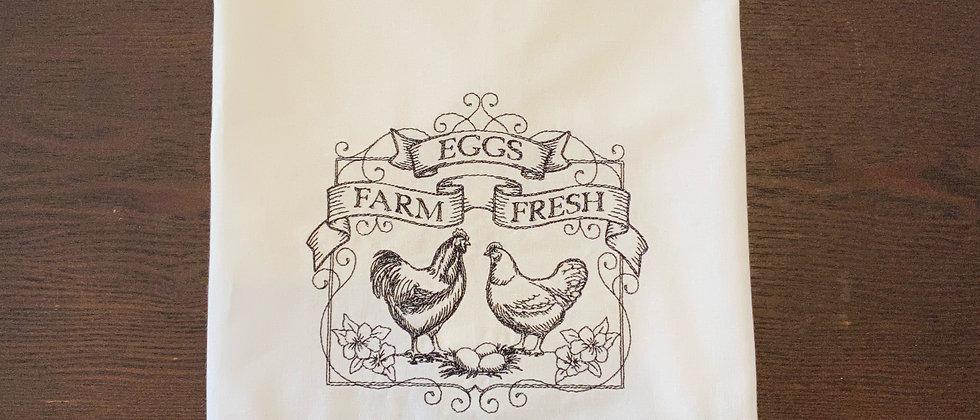 Farm Fresh Chicken Kitchen Towel