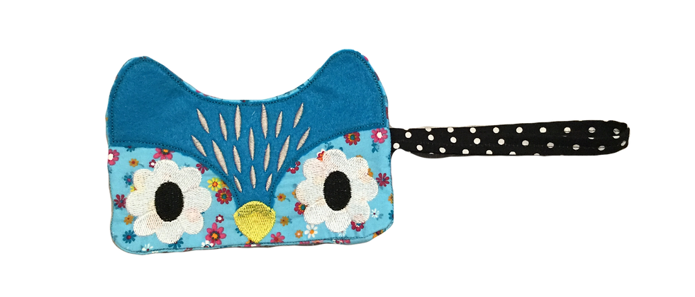 Happy Owl Wristlet