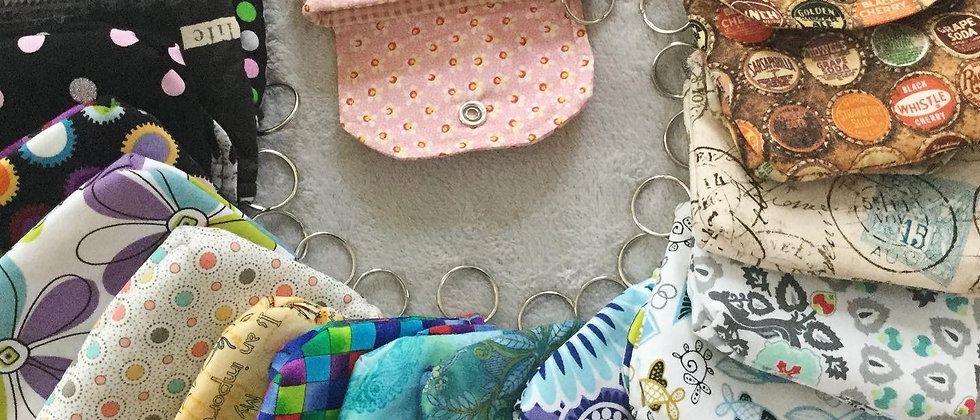 Colorful Coin Purses with Key Ring