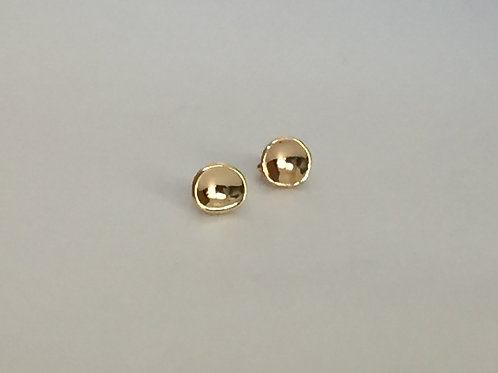 Gold Concave Studs