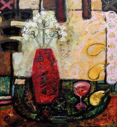 """""""Stilleben"""", oil on canvas, 150x100cm, 2003"""