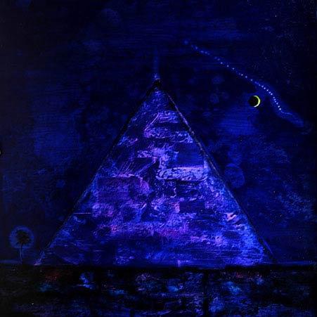 """Phyramide by night"" 85x85 cm, 2001"