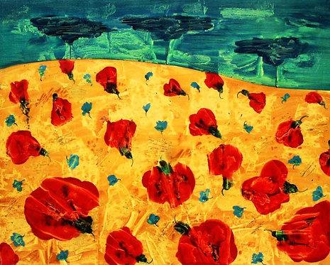 """""""Thunderstorm"""" 100x150cm, oil on canvas, 2002"""