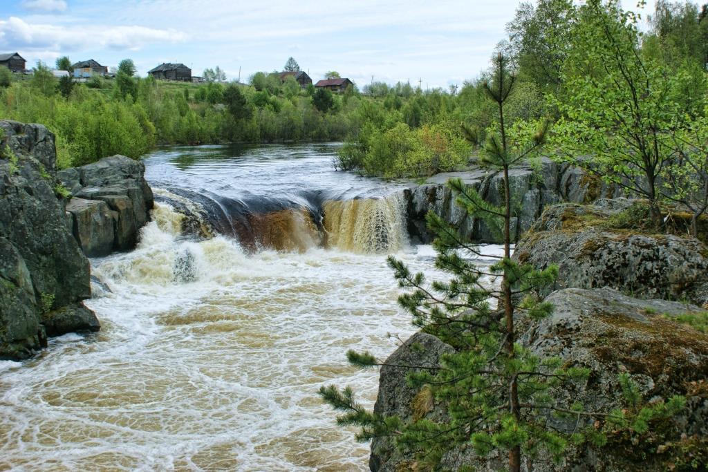 Водопад в Надвоицах
