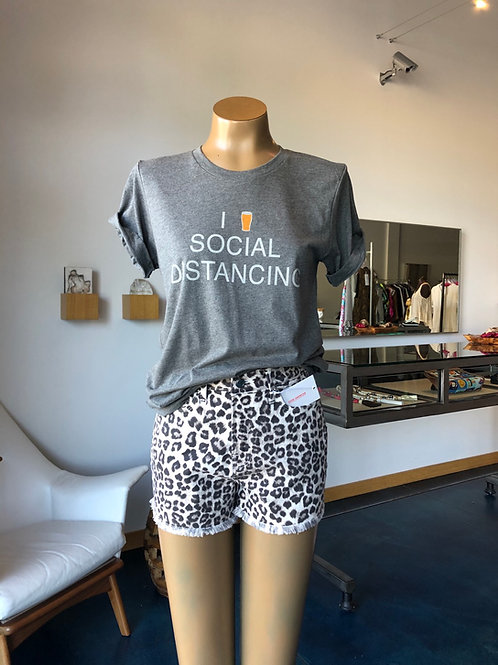 Good American Leopard Shorts