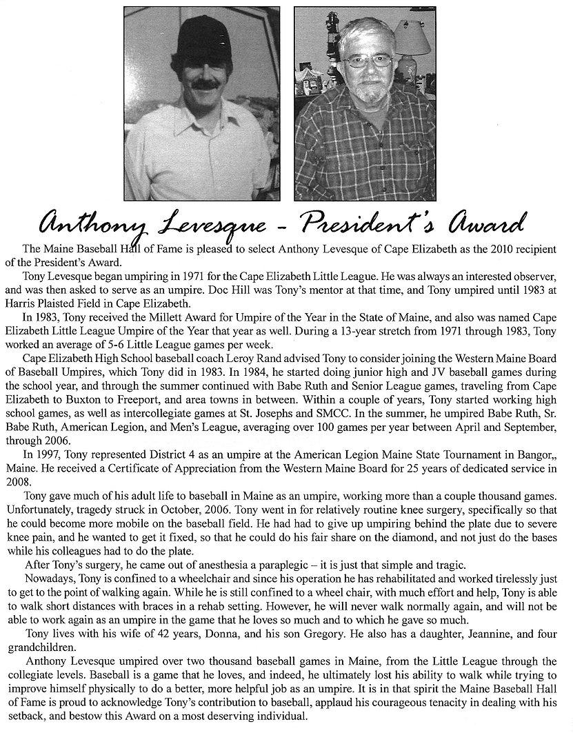 2010 Presidents Award Anthony Levesque.j
