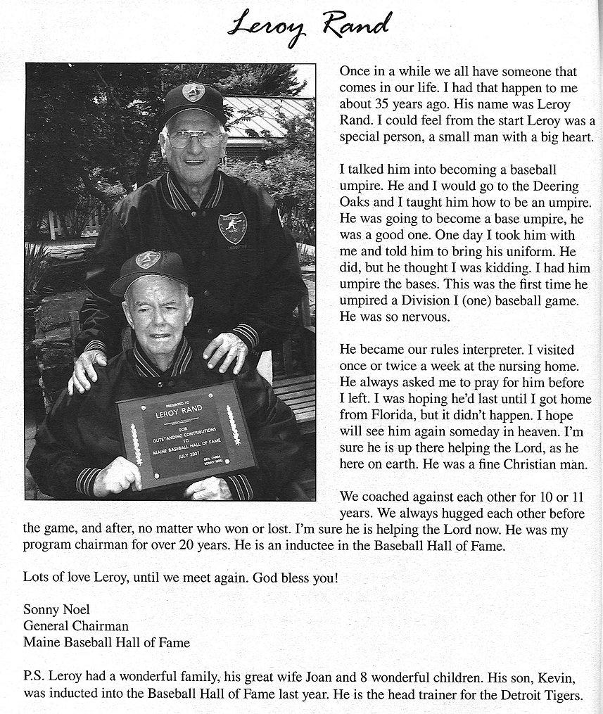 Presidents award special Sonny Leroy Ran