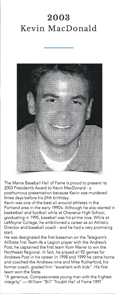 2003 Presidents award kevin MacDonald.pn