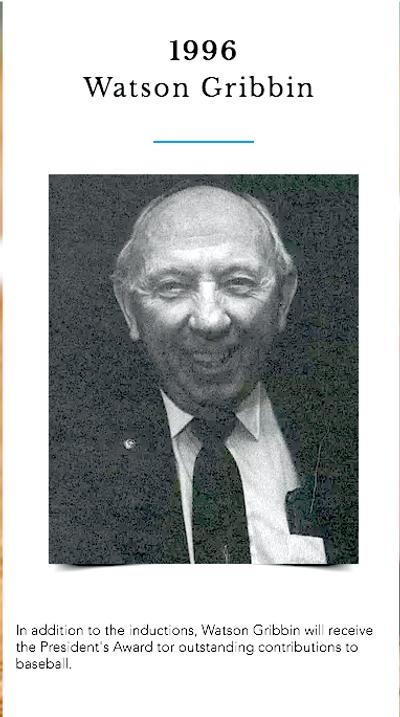 1996 Presidents award Watson Gribbin.png