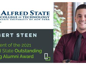 Robert Steen a Recipient of the 2021 Alfred State Outstanding Young Alumni Award