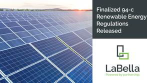 Finalized 94-c Renewable Energy Regulations Released