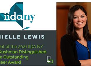 Danielle Lewis Recently Awarded the 2021 Ellen Kushman Distinguished Service Award by IIDA NY