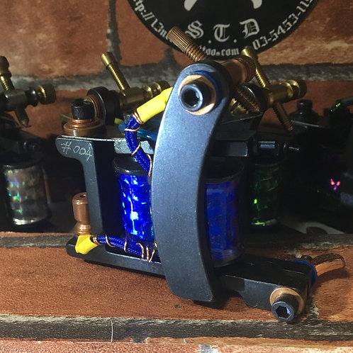 Bulldog machine, 13'needle Design, Custom sheder. BLUE