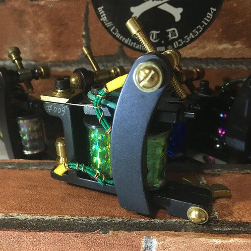 Bulldog machine, 13'needle Design, Custom sheder.GREEN
