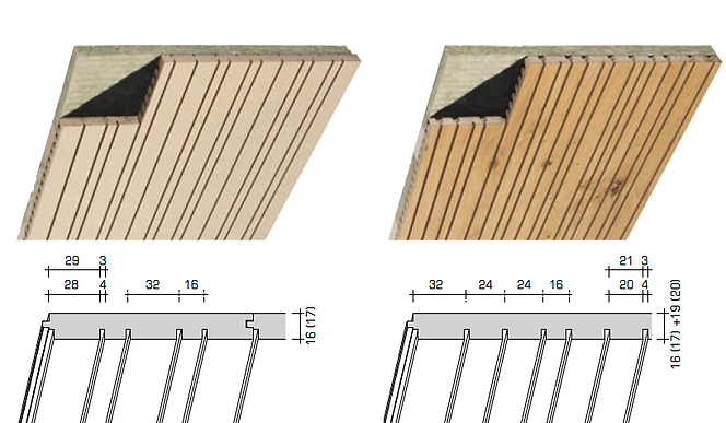 Topakustik R-Planks/R-Panels Acoustic Wood Sound Reduction