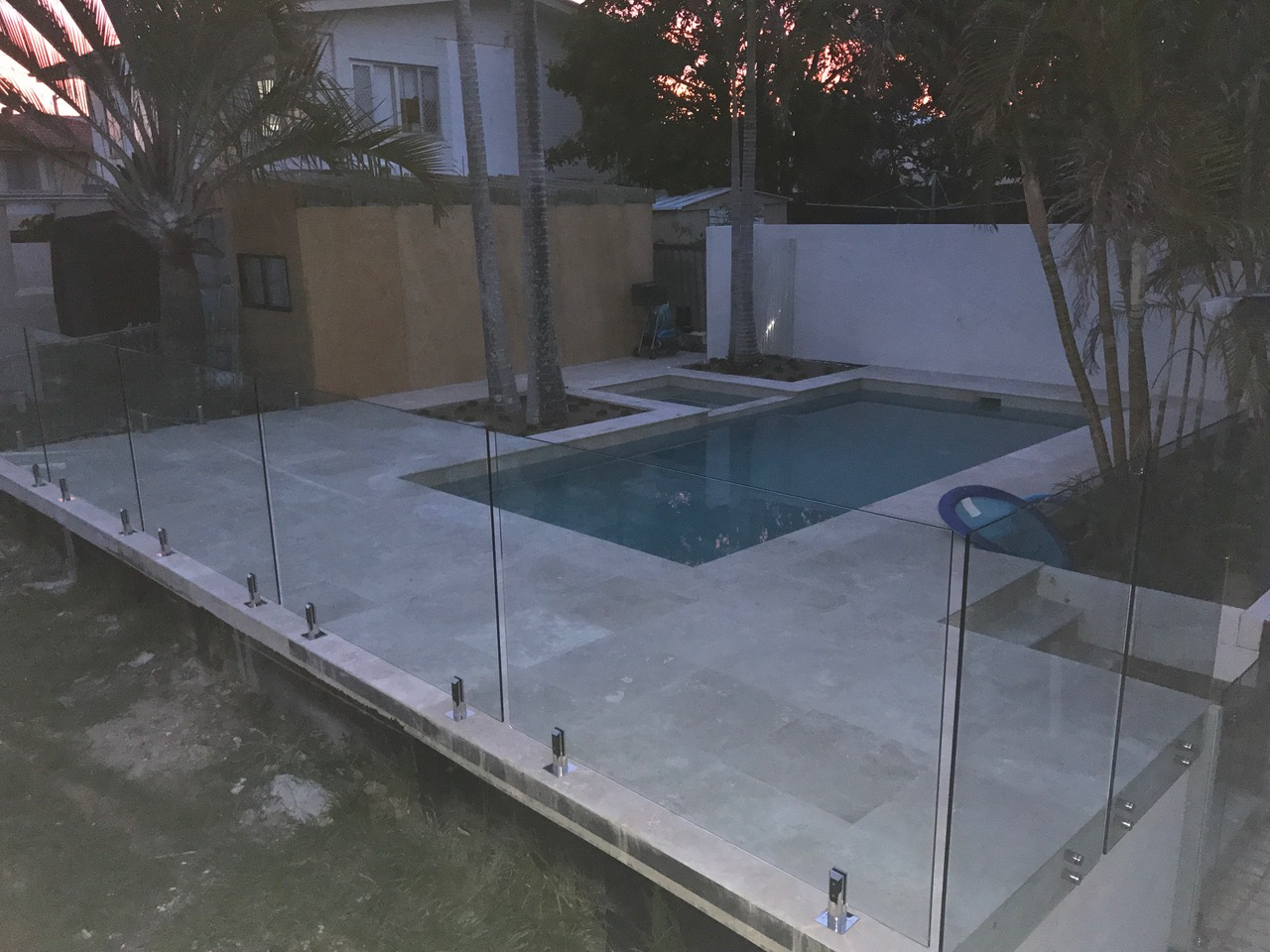 see thru clear glass pool fencing sunshine coast dicky beach install 4