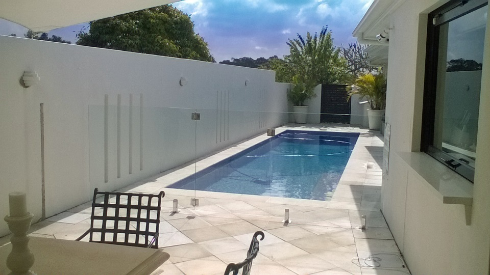Final sunshine coast glass pool fencing with spigots