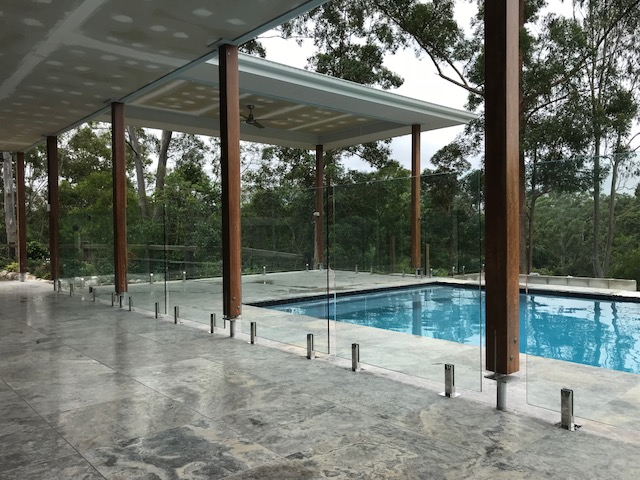 mooloolah Valley glass pool fence