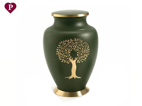 Aria Tree Of Life Brass Large Urn