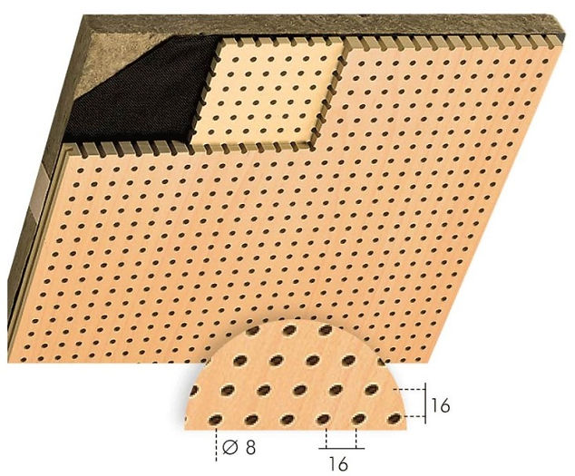 TopPerfo Type 16/16/8 Acoustic Wood Sound Reduction