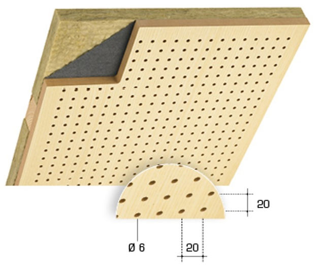 TopPerfo Type 20/20/6 Acoustic Wood Sound Reduction